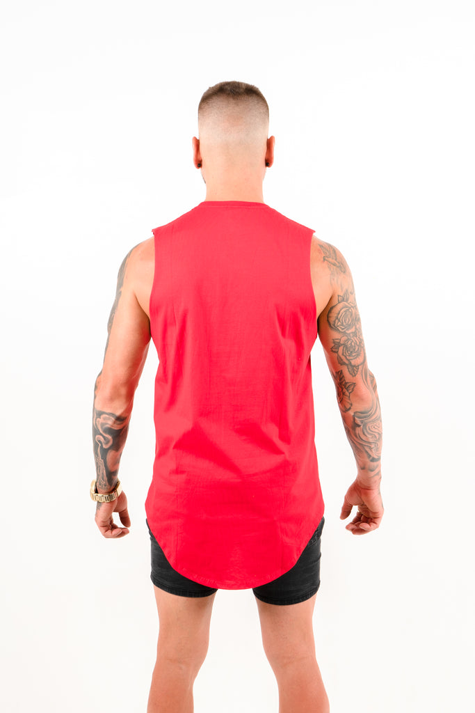 IIWII red blank singlet