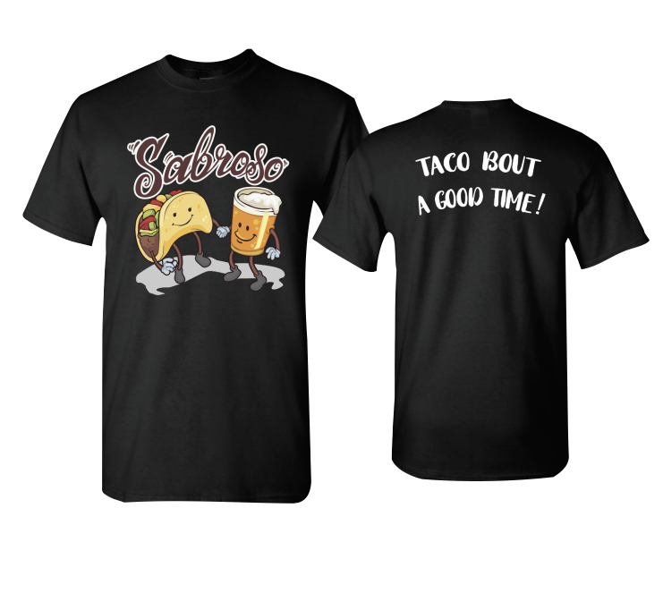 Sabroso Taco and Beer mens Tshirt