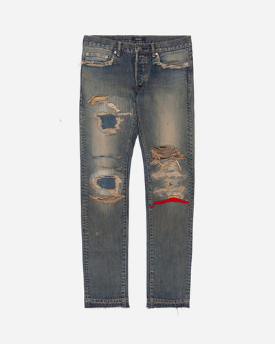 Undercover 68 Red Yarn Jeans - SS10 Reissue