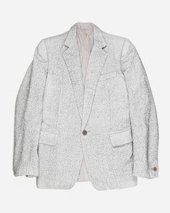 "Carol Christian Poell White Woven Blazer GM/1993L ELEFANT/4 - AW04 ""Instant Collection"""