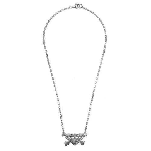 Undercover Diamond and Crossbones Necklace - AW01