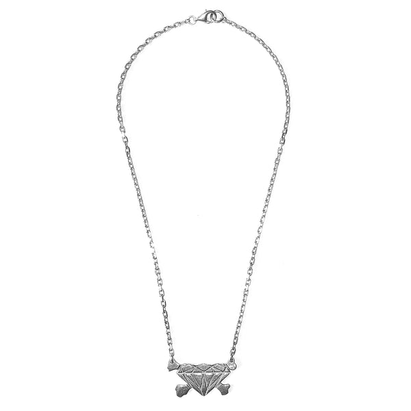 "Undercover Diamond and Crossbones Necklace - AW01 ""D.A.V.F."""