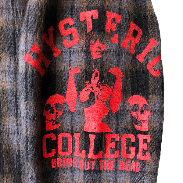 "Hysteric Glamour ""Bring out the Dead"" Half Zip Pullover"