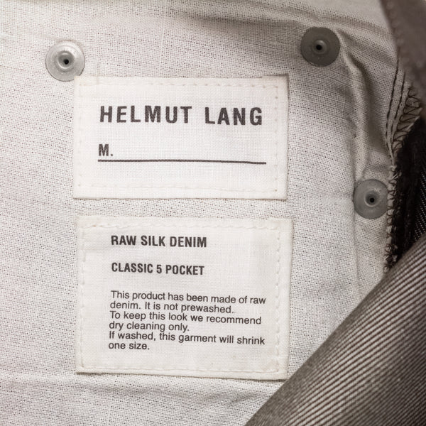 Helmut Lang Brown Silk Raw Denim - 2000s