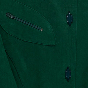 Thierry Mugler Forest Country Green Sports Jacket - 1980s