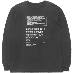 "Undercover ""Small Parts"" Long Sleeve Tee - AW98 ""Exchange"""