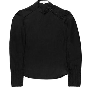 Veronique Branquinho Black Distressed Fencing Top - AW02