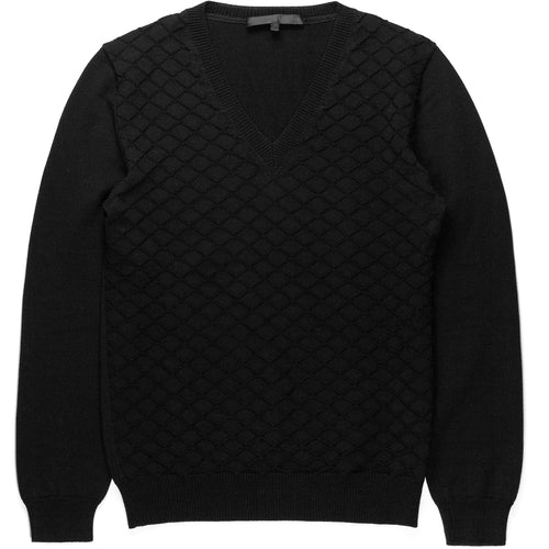 Veronique Branquinho Man Black V-Neck Sweater
