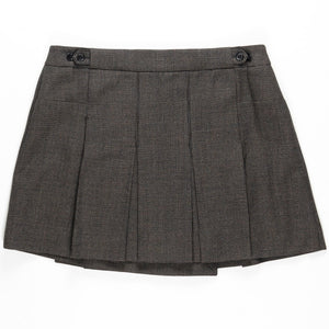 Veronique Branquinho Houndstooth Pleated Skirt - AW03