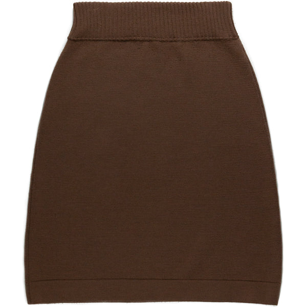 Veronique Branquinho Brown Knitted Skirt
