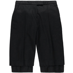 Veronique Branquinho Wool Double-Layered Shorts