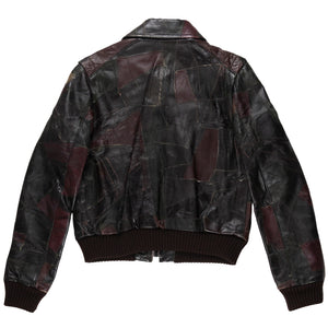 VERONIQUE BRANQUINHO RECONSTRUCTED LEATHER JACKET - AW01