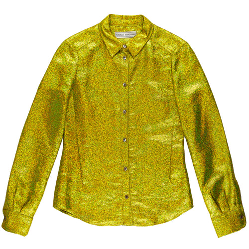 VERONIQUE BRANQUINHO YELLOW GLITTER SHIRT - AW13