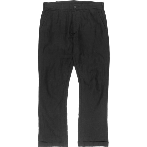 Ann Demeulemeester Cropped Linen Turn-Up Trousers