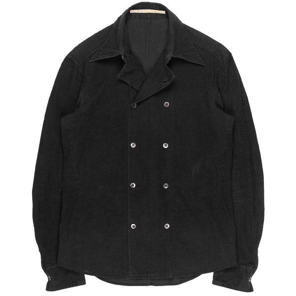 "Carol Christian Poell Ash Black Double Breasted Shirt - AW97 ""Aerodynamics"""