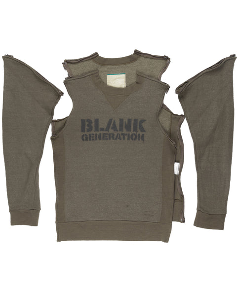 "Undercover Blank Generation Olive Sweater - AW99 ""Ambivalence"""