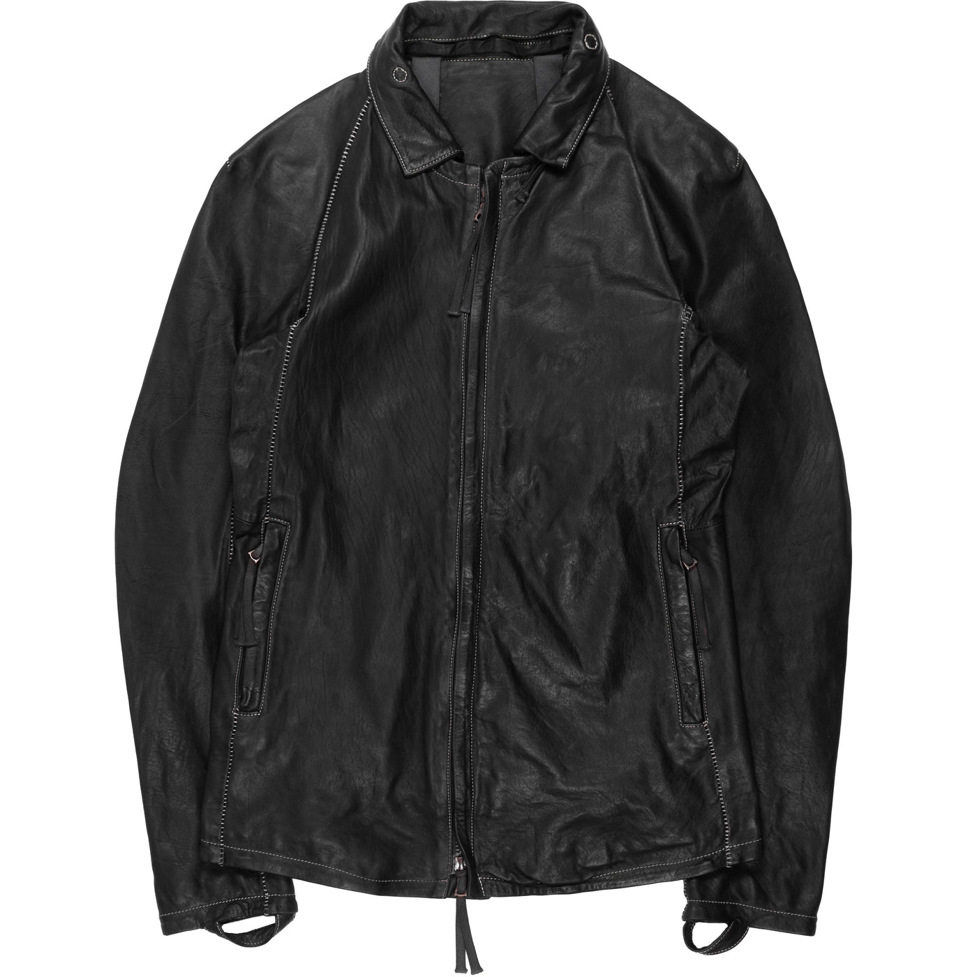 "Boris Bidjan Saberi ""J2"" Overlock Horse Leather Jacket"