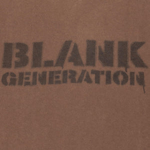 "Undercover Brown Blank Generation Tee - AW99 ""Ambivalence"""