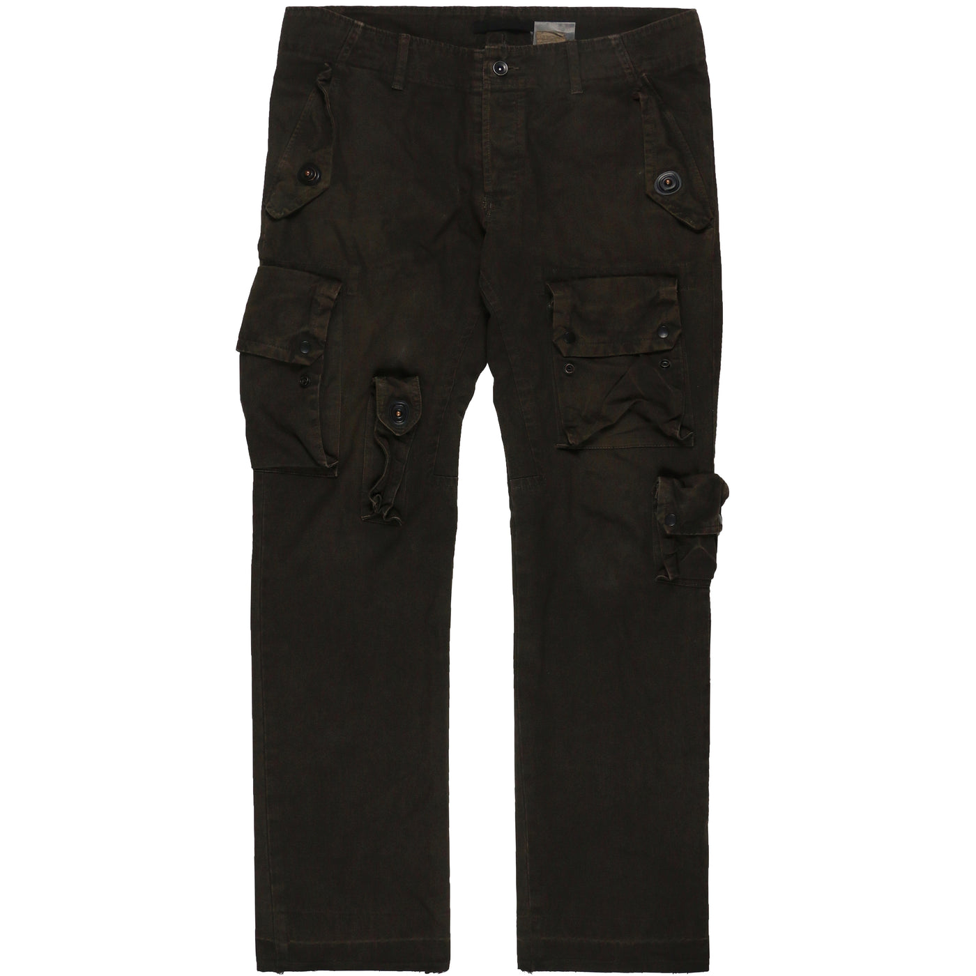 Julius Mud Brown Multi-Pocket Gas Mask Cargo Pants