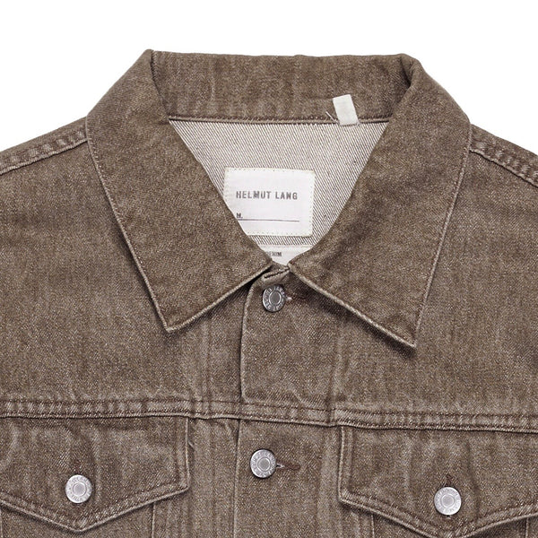 Helmut Lang Brown Denim Trucker Jacket