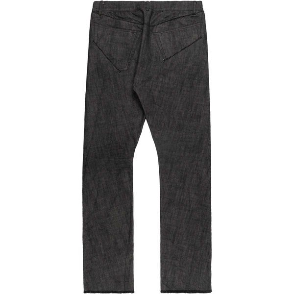 "Carol Christian Poell Grey Overlock Denim Jeans JM2180 KIT-J/10  - AW05 ""On Demand"""