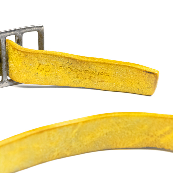 Carol Christian Poell Yellow Bison Leather Belt
