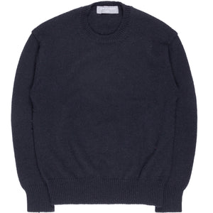 Comme des Garçons Homme Navy Wool Knit Sweater - AD2002