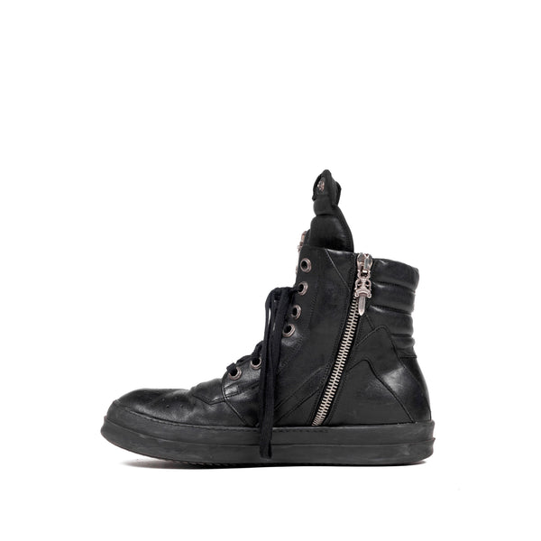 Rick Owens x Chrome Hearts Geobasket Sneakers