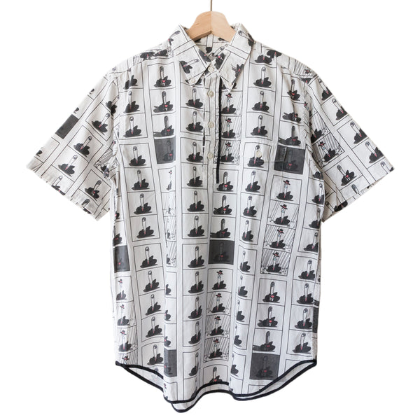 "Number (N)ine Middle Finger Half Button Up Shirt - SS02 ""Modern Age"""