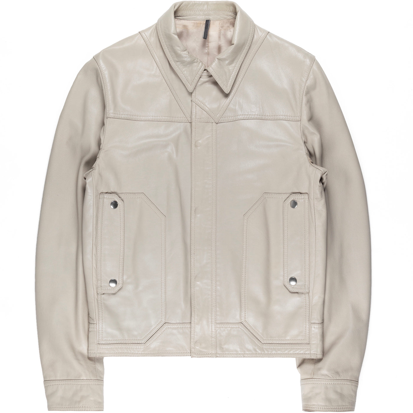 "Dior Homme Taupe Paneled Leather Jacket - AW07 ""Navigate"""