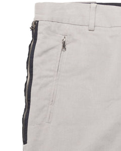 Dries Van Noten Piped Taupe Trouser