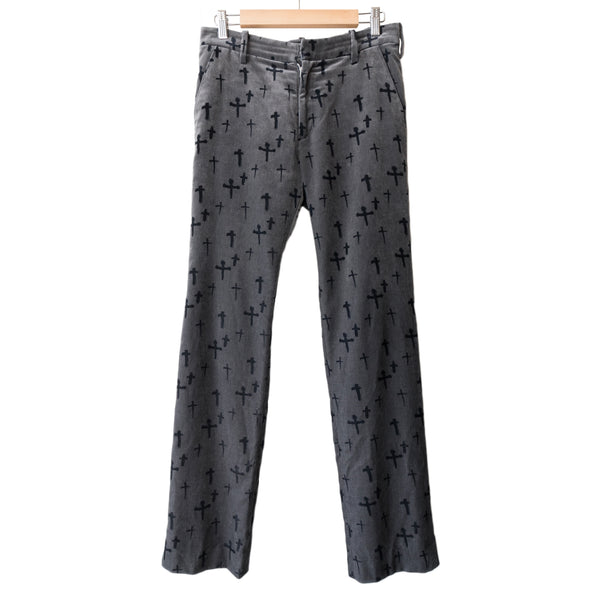 "Undercover Cross Velour Trouser - AW02 ""Witch's Cell Division"""