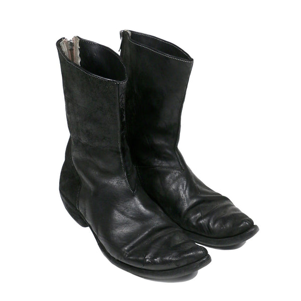 "Carol Christian Poell Spiral Zip Cordovan Leather Boots - SS07 ""Paranoid"""