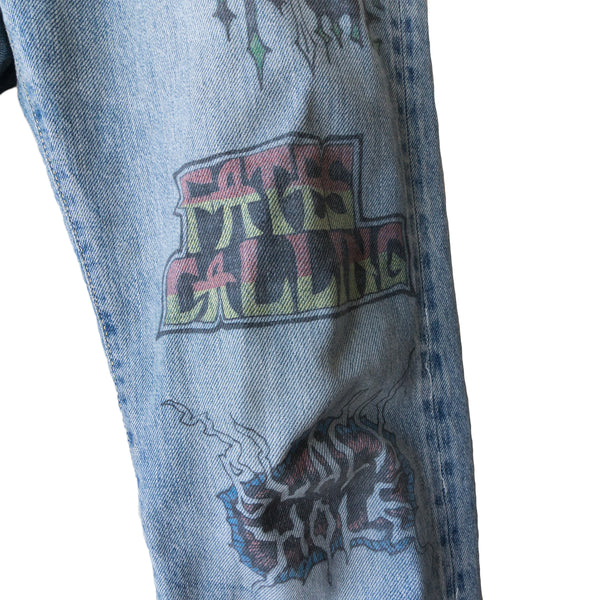 Hysteric Glamour Tattoo Graphic Denim