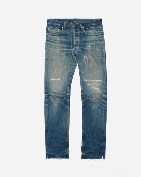 "Dior Homme Stonewashed Repaired Jeans - SS03 ""Follow Me"""