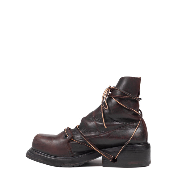 Dirk Bikkembergs Brown Leather Boot - 1990s
