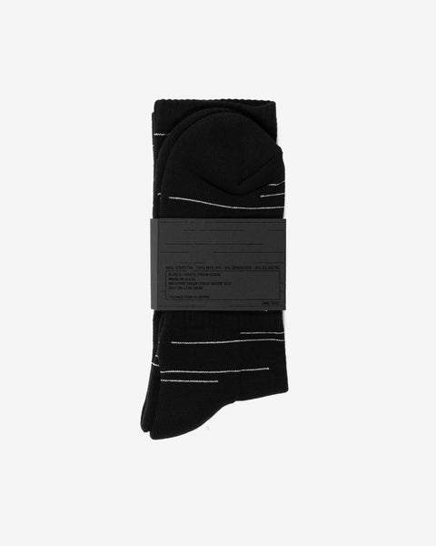 Silver League Displaced Lines Crew Sock (3-Pack)