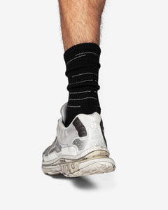 Silver League Displaced Lines Crew Sock (1-Pair)