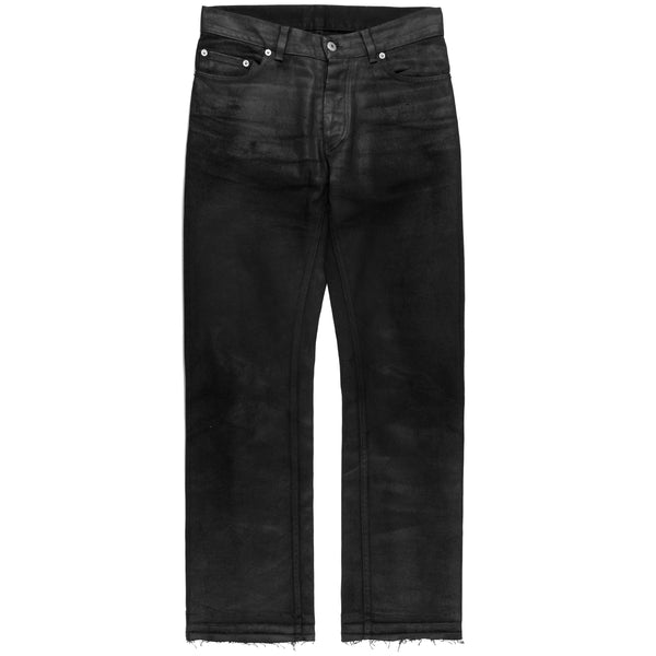 Helmut Lang Black Coated Jeans - 1999