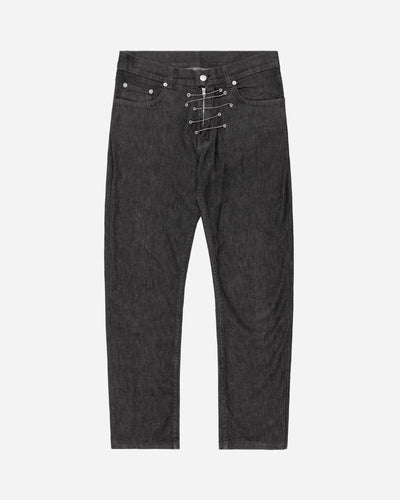 Helmut Lang Charcoal Grey Chain Jeans - AW04