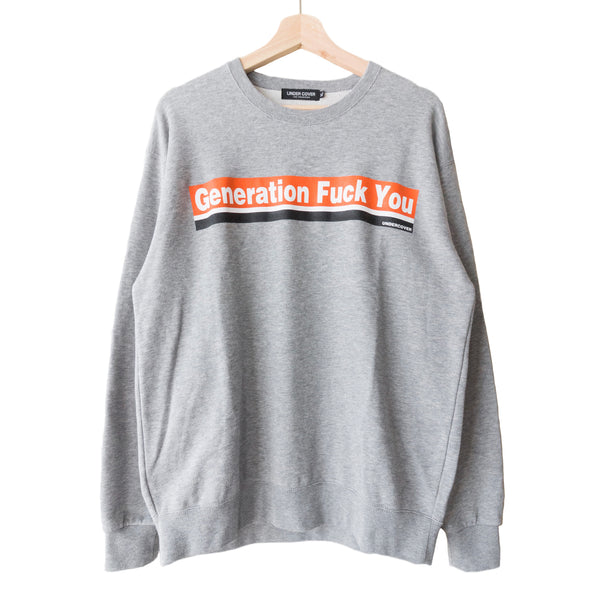 "Undercover ""Generation Fuck You"" Crewneck Sweatshirt"