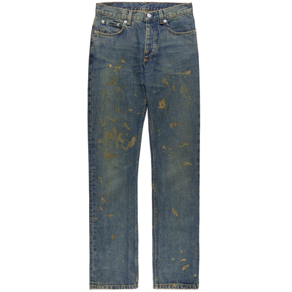 Helmut Lang Womens Gold Painter Jeans - 1999