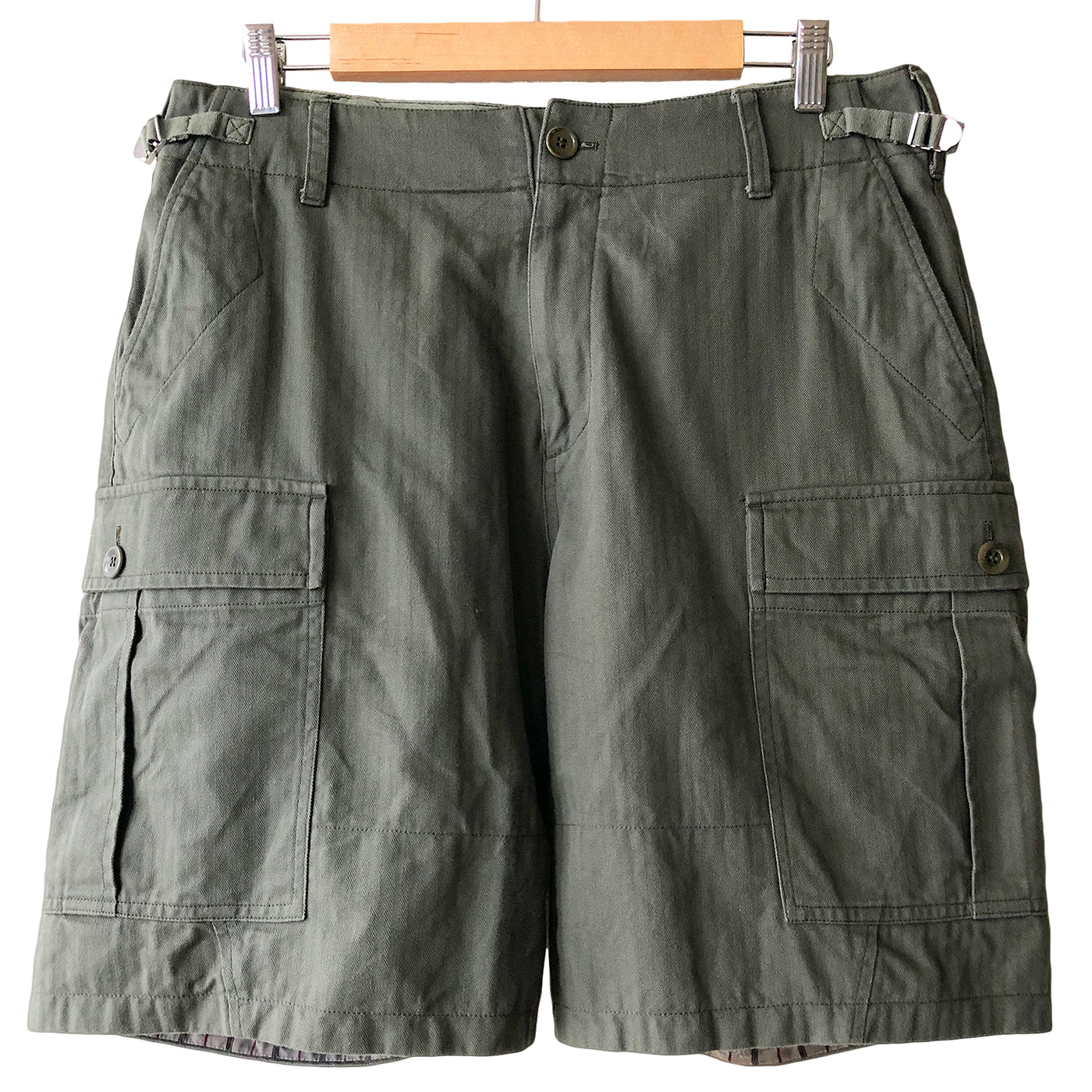 Undercover Military Green Cargo Shorts - SS17