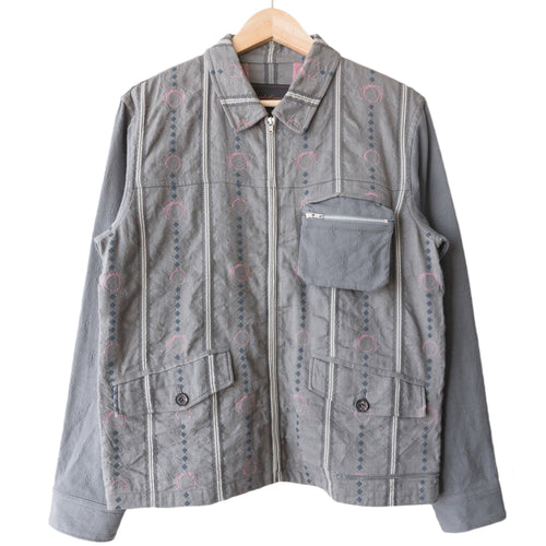 Undercover Grey Striped Work Jacket - SS03