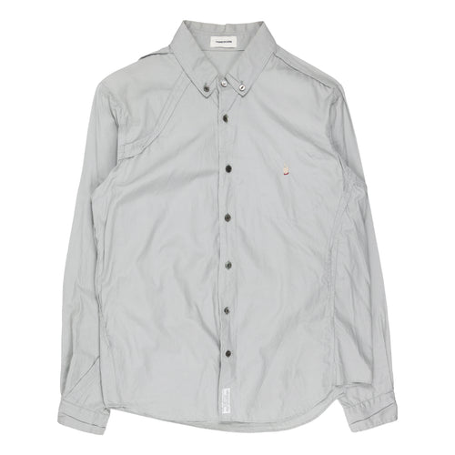 Undercover Middle Finger Grey Button Up Shirt - SS13