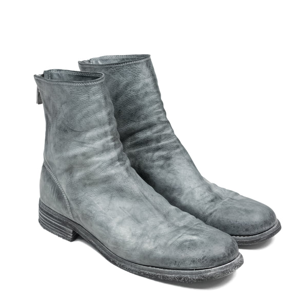 Guidi 986 Grey Back-Zip Boot