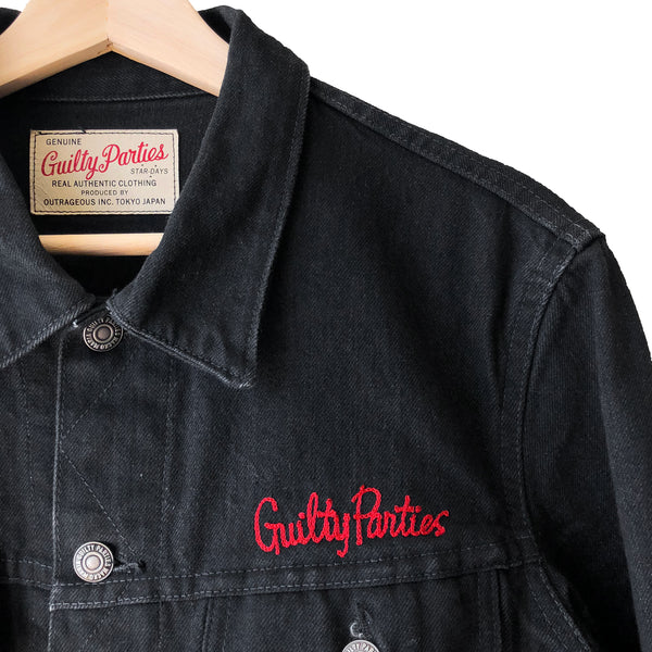 "Wacko Maria ""Guilty Parties"" Black Denim Jacket"