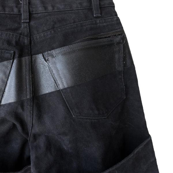 Helmut Lang Rubber Strip Black Denim - Archive 1997