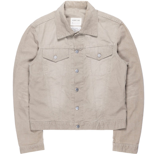 Helmut Lang Taupe Corduroy Trucker Jacket - SS99