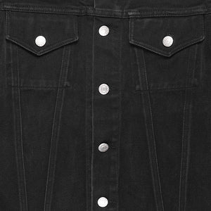 Helmut Lang Black Denim Trucker Jacket - 1998